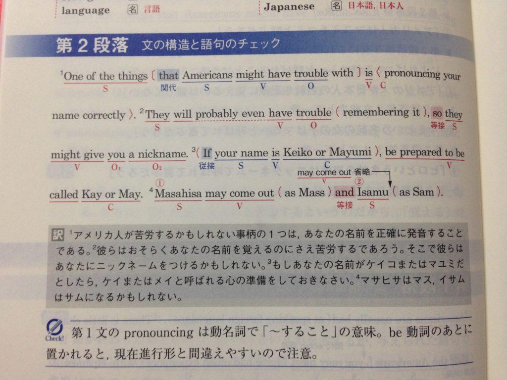 全レベル問題集英語長文-文構造解説1