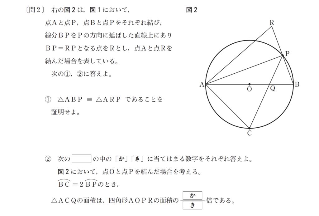 都立高校入試-数学第4問・問2