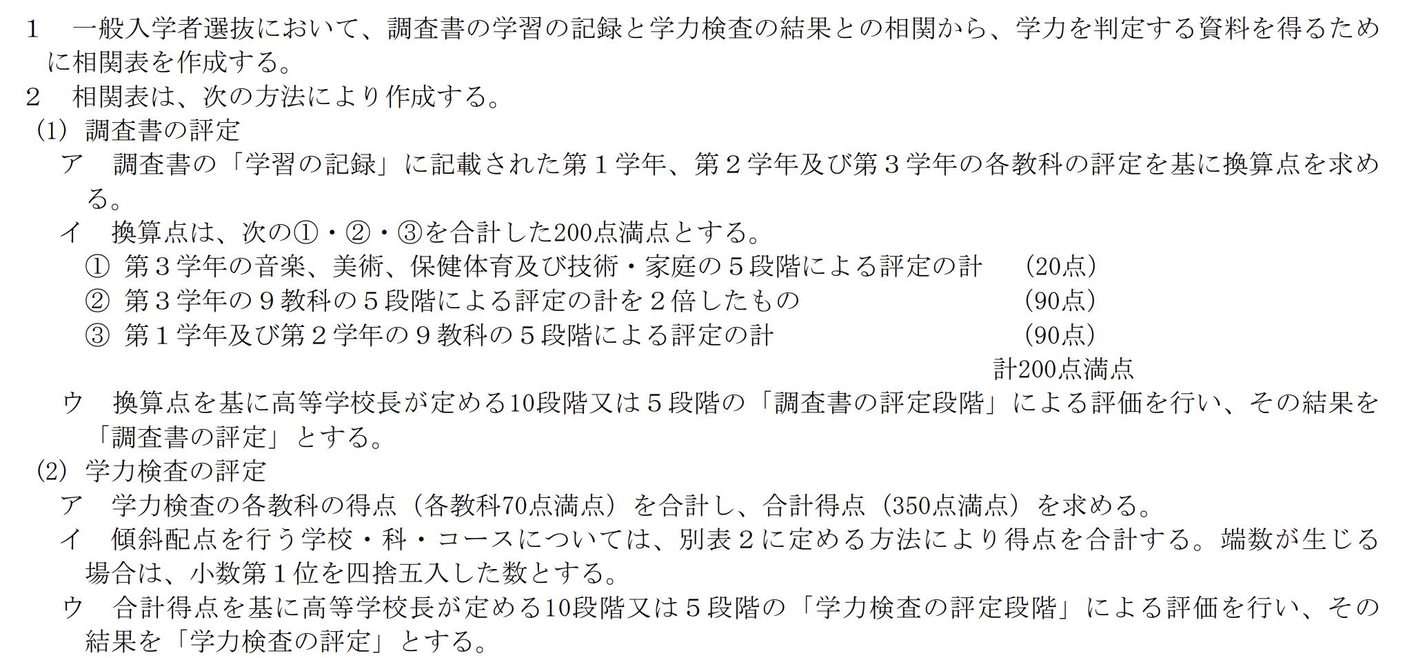 岡山県公立高校入試制度1