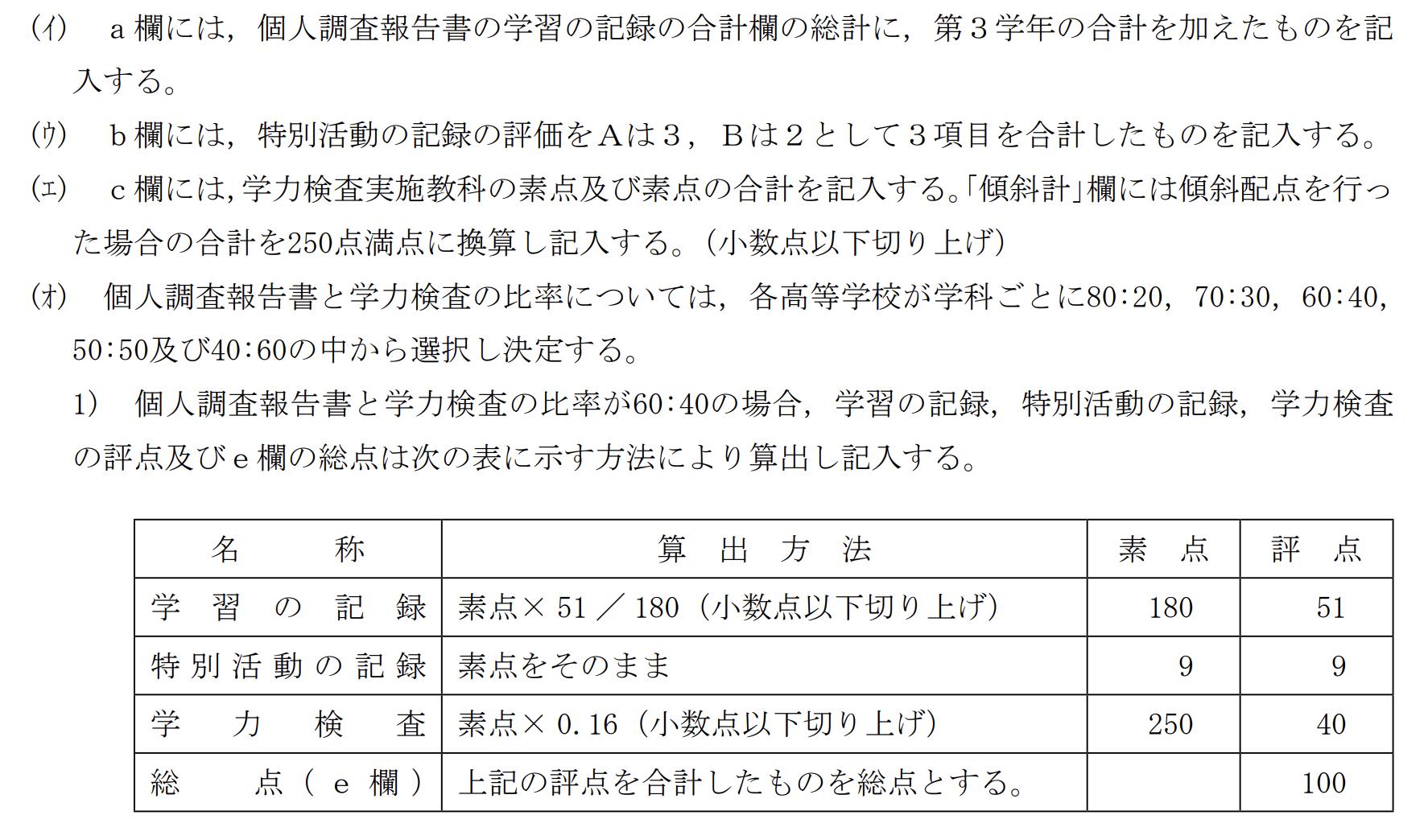島根県公立高校入試制度1