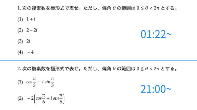 複素数の極形式、サムネイル
