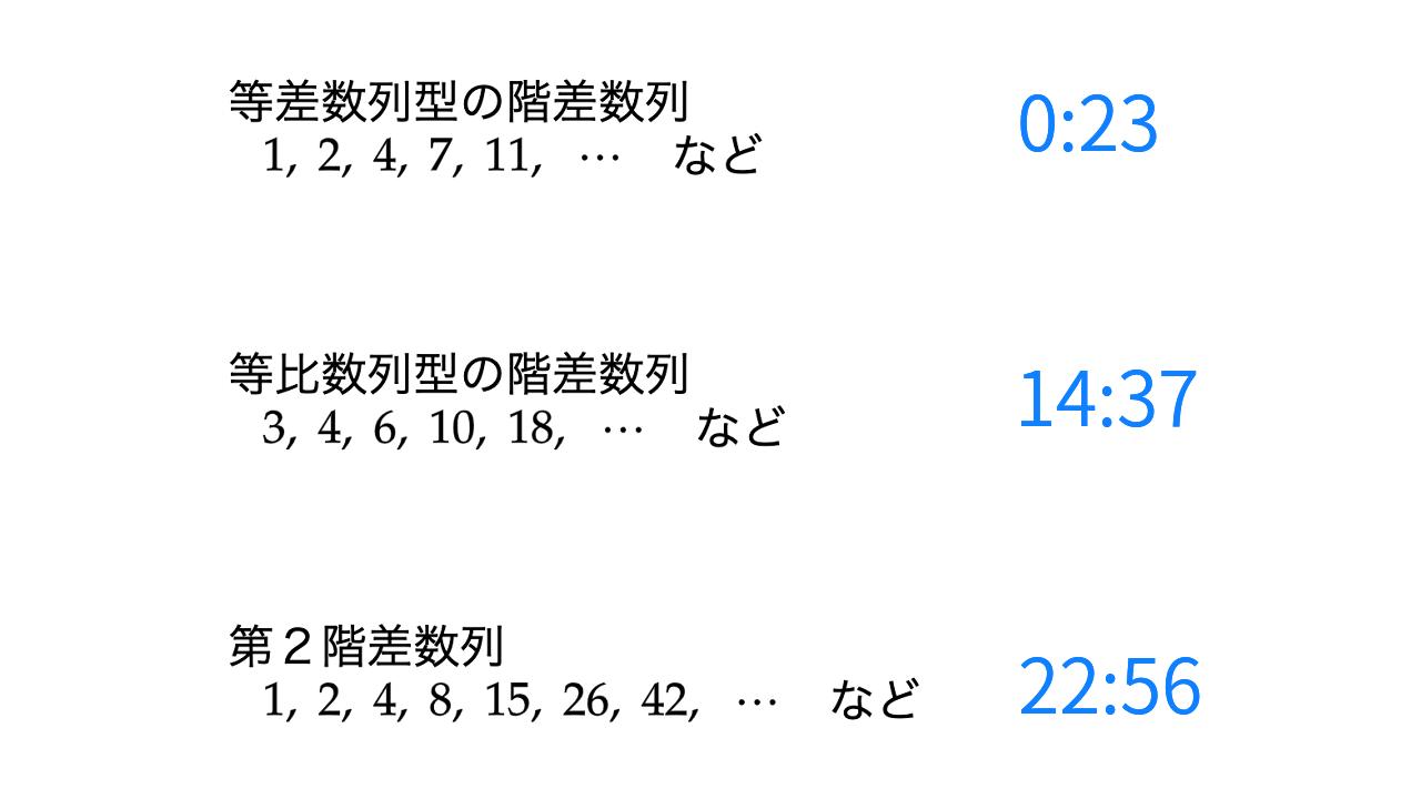 バリクソ数学、階差数列、サムネイル